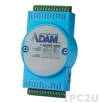 ADAM-4069-AE Модуль вывода, 8 каналов дискретного вывода с реле, Modbus RTU/ASCII