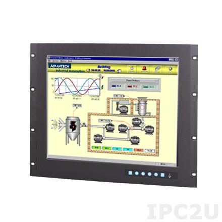 """FPM-3191G-R3BE Промышленный 19"""" TFT LCD LED монитор, 1280x1024, яркость 350 нит, резистивный сенсорный экран (RS-232 & USB), VGA, DVI-D, питание 12В/24В DC"""