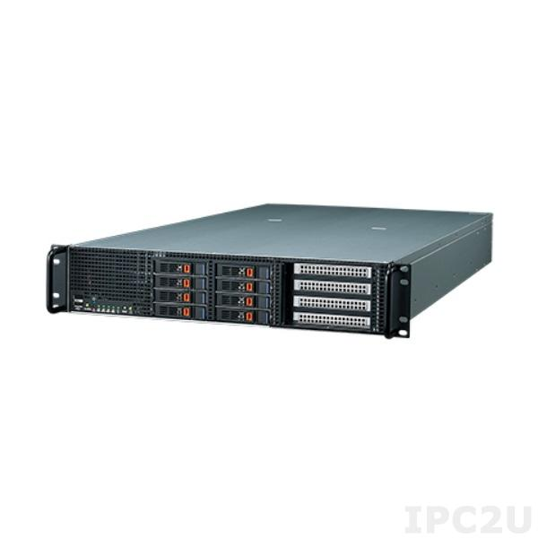 "AGS-920I-R14A1E Высокопроизводительный 2U cервер, 2xсокета Intel LGA2011 с поддержкой Xeon E5-2600 v1/v2, до 128 Гб DDR4 1600/1866/2133 МГц ECC-REG DIMM, 8x 2.5"" Hot-Swap HDD, 4x GbE LAN, 4xUSB, 4xPCIe x16, 1x PCIe x8, источник питания 1400 Вт"