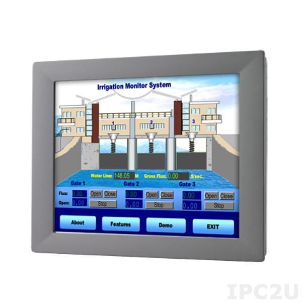 """FPM-2120G-R3BE Промышленный 12"""" LCD LED монитор с резистивным сенсорным экраном (интерфейс RS-232 & USB), 1024 x 768, яркость 600 кд/м2, VGA, адаптер питания 100-240В AC 60Вт"""