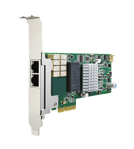 PCIE-2131NP-01A1E Сетевой адаптер Gigabit Ethernet, 2 порта RJ45, контроллер Intel I350-AM4, PCI Express x4 gen. 2, низкопрофильный