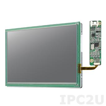 "IDK-065R-64VGA1 6.5"" LCD 640 x 480 Open Frame дисплей LED, 800нит, резистивный сенсорный экран (USB), LVDS"