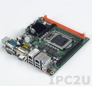 AIMB-280QG2-00A1E Процессорная плата Mini-ITX, Чипсет Q57, сокет LGA1156 для Intel Core i7/i5/i3/Pentium, до 4Гб DDR3 SO-DIMM, DVI, 2xGb LAN, 2xCOM, 8xUSB, 4xSATA II, слоты расширения 1xPCIe x16