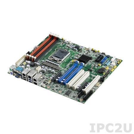 ASMB-782G4-00A1E Серверная процессорная плата ATX, Intel Celeron, Pentium, Core i3,5,7, Xeon E3 1200(v2), чипсет LGA1155, до 32Гб DDR3, 1xVGA, 4xGB LAN, 2xRS232, 8xUSB 2.0, 2xUSB 3.0, 4xSATAII, 2xSATAI, 1xLPT,2xPS/2, 2xPCIex16, 2xPCIex4, 3xPCI, 12В DC