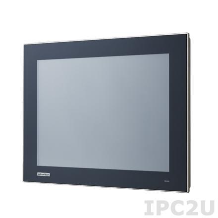 """TPC-1551T-E3AE Безвентиляторная панельная рабочая станция 15"""" TFT LCD LED, плоский резистивный сенсорный экран (IP66), Intel Atom E3827 1.75ГГц, 4Гб DDR3L, 1xCFast, 2xLAN, 2xCOM, 2xUSB, 1xMini PCIe, питание 24В DC"""