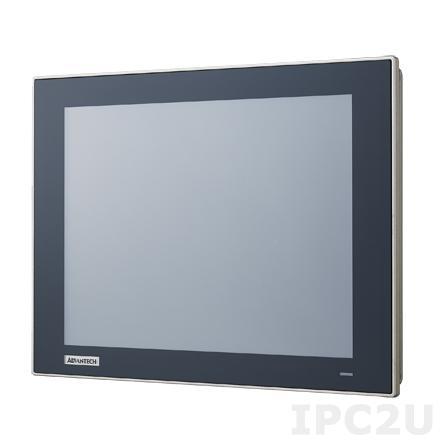 """TPC-1251T-E3BE Безвентиляторная панельная рабочая станция 12.1"""" TFT LCD LED, плоский резистивный сенсорный экран (IP66), Intel Atom E3827 1.75ГГц, 4Гб DDR3L, 1xCFast, 2xLAN, 2xCOM, 2xUSB, 1xMini PCIe, питание 24В DC"""