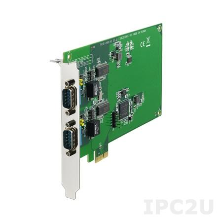 PCIE-1680-AE PCI Express x1 адаптер 2xCAN, 2xDB9 Male c изоляцией