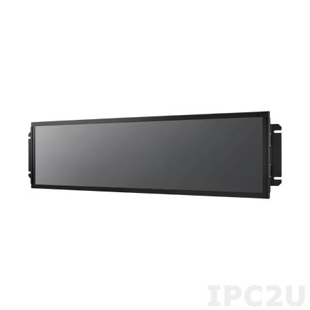 """ARS-P3800-40A1E Панельный компьютер для транспорта 38"""" TFT LCD, AMD Embedded GX-217GA 1.65ГГц, DDR3 SO-DIMM, 64Гб mSATA SSD, GB LAN, 1xUSB 2.0 M12, 1xUSB 2.0, Linux Ubuntu 16.04, питание 110В DC M12, IP54, -25...+55C"""