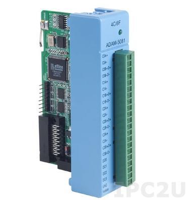ADAM-5081-AE Модуль ввода, 4/8 канала счетчика/частотомера, высокоскоростной