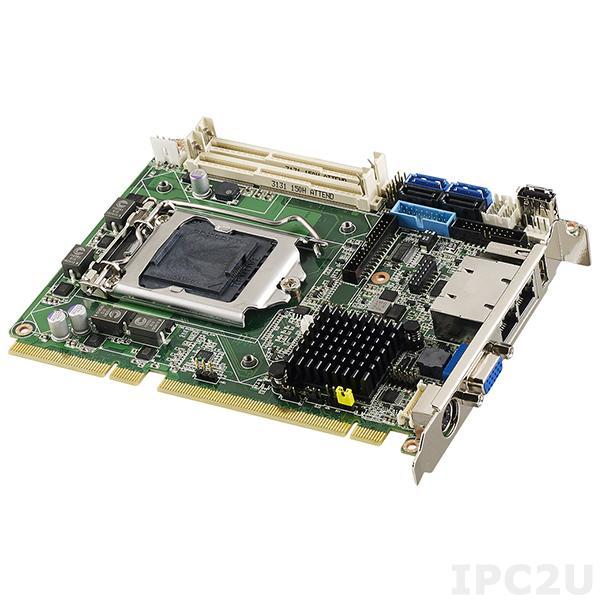 PCE-4128G2-00A1E Процессорная плата Half-Size PICMG 1.3, сокет LGA1150 для Intel Xeon E3-1200v3/Core i5/i3/Pentium/Celeron с DDR3, VGA, 2xGbE LAN, 2xCOM, 11xUSB, 4xSATA III (RAID 0/1/5/10), LPT, GPIO