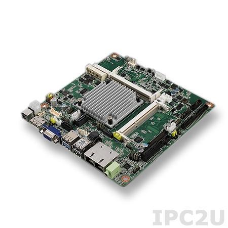 AIMB-215N-S6B1E Процессорная плата Mini-ITX, Intel Celeron N2930 1.83ГГц, до 8Гб DDR3L SO-DIMM, VGA, DP, LVDS, 2xGbe LAN, 2xSATA, 6xCOM, 10xUSB, слоты расширения 2xMini-PCIe, 1xPCIe x1