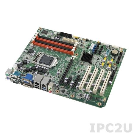 AIMB-782QG2-00A1E Процессорная плата ATX Intel Core i7/i5/i3/Pentium LGA1155, Intel Q77, до 32Гб DDR3 DIMM, VGA/DVI, 2xGb LAN, 2xSATA III (RAID 0,1,5,10), 6xCOM, 10xUSB 2.0, 4xUSB 3.0, 4xPCI, 1xPCI Express x16, 1xPCI Express x4, 1xPCI Express x1