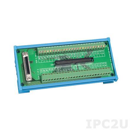 ADAM-3952-AE Плата клеммников с разъемами 50-pin SCSI и IDC PCI-1240, монтаж на DIN рейку