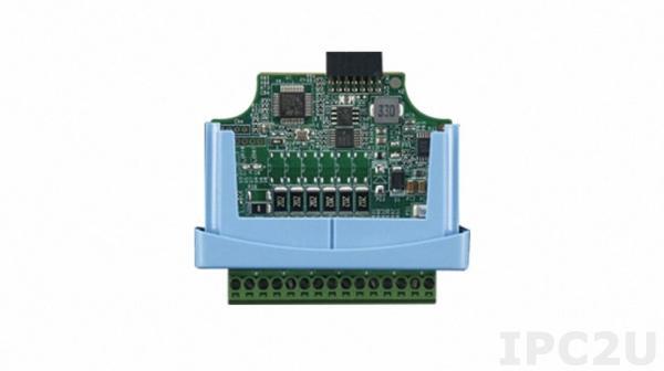 WISE-S250-A Модуль ввода-вывода, 6 каналов дискретного ввода, 2 канала дискретного вывода, 1xRS-485, для модулей ввода-вывода WISE-4220