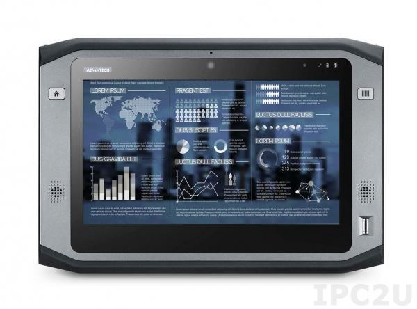 """PWS-870-3S6G6E5F0E Защищенный планшетный компьютер с 10.1"""" HD LCD LED, емкостный сенсорный экран (повыш.яркость), Intel Core i3-4010U 1.7ГГц, 4Гб DDR3L, 64Гб SSD, 1xSD card слот, 3xUSB, HDMI, WLAN, BT, GPS, 4G-EU, 2D, NFC, камеры 2 и 5 МП, Аудио, питание 19В DC, WE8"""