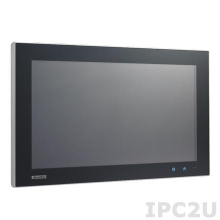 "SPC-1840WP-T3AE Безвентиляторная рабочая станция, IP65, WXGA 18.5"" TFT LCD LED, емкостный сенсорный экран, AMD T56N 1.65ГГц, 4Гб DDR3, отсек 1x2.5"" SATA HDD, 5xM12 (1xUSB, 1xRS-232, 2xLAN, DC input), питание 24В DC"