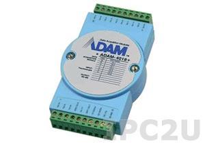 ADAM-4018+-BE Модуль ввода, 8 каналов аналогово ввода сигнала с термопары, Modbus RTU/ASCII