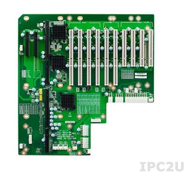 PCE-7B13-64C1E Объединительная плата PICMG 1.3 13 слотов, 1xPICMG 1.3, 4xPCI, 2xPCI Express x8, 6xPCI-X