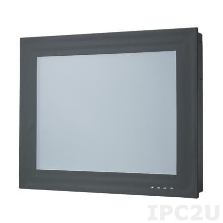 "PPC-3150-RE4BE Безвентиляторная панельная рабочая станция с 15"" TFT XGA LCD LED, резистивный сенсорный экран, Intel Atom E3845 1.91ГГц, 1x204-pin DDR3L, 1x2.5"" SATA отсек, VGA, DP, 2xGbE LAN, 2xCOM, 1xUSB 3.0, 3xUSB 2.0, 1xPCI, Аудио, питание 9-32В DC"