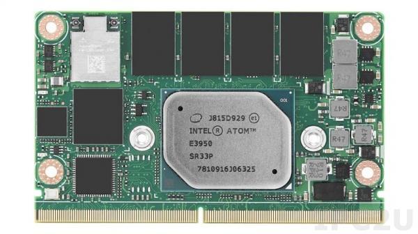 SOM-2569BN0C-S3A1 Процессорная плата SMARC на базе Intel Atom x5-E3930 1.3ГГц, 4Гб LPDDR4, 32Гб eMMC 5.0, 18/24-bit LVDS, HDMI, DP++, до 2xGbE LAN, 4xCOM, 2xUSB 3.0, 6xUSB 2.0, до 4xPCIe x1, HD Audio
