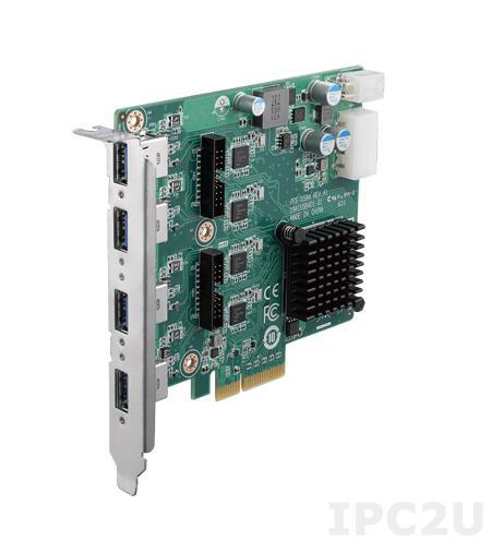 PCE-USB4-00A1E PCI Express x4 плата расширения, 4 порта USB 3.0, 5В