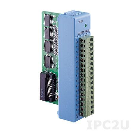 ADAM-5051D-BE Модуль ввода, 16 каналов дискретного ввода c индикацией