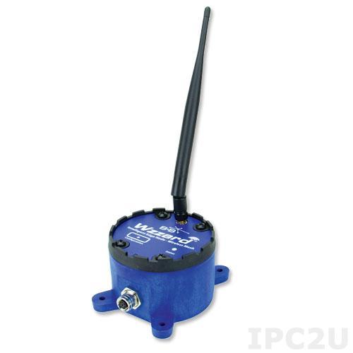WSD2MA2 Беспроводной модуль ввода-вывода, 2 канала аналогового ввода, 1 канал дискретного вывода, SmartMesh 802.15.4e, Bluetooth, внешняя антенна, разъем M12