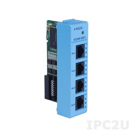 ADAM-5091-BE 4-портовый модуль RS-232