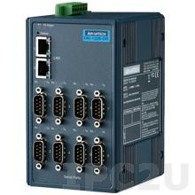EKI-1228CI-DR-AE Шлюз Modbus TCP в Modbus RTU/ASCII, 8xRS-232/422/485 разъем DB9 Male, изоляция, 2xLAN, -40...+70C