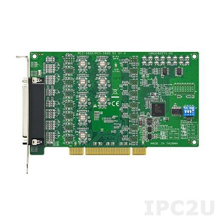 PCI-1622B-DE Universal PCI адаптер 8xRS-232/422/485 разъем DB62 Female, c защитой от перенапряжения, без кабеля OPT8H