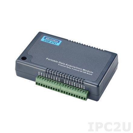 USB-4761-BE Модуль ввода-вывода, 8xDI, 8 реле, USB