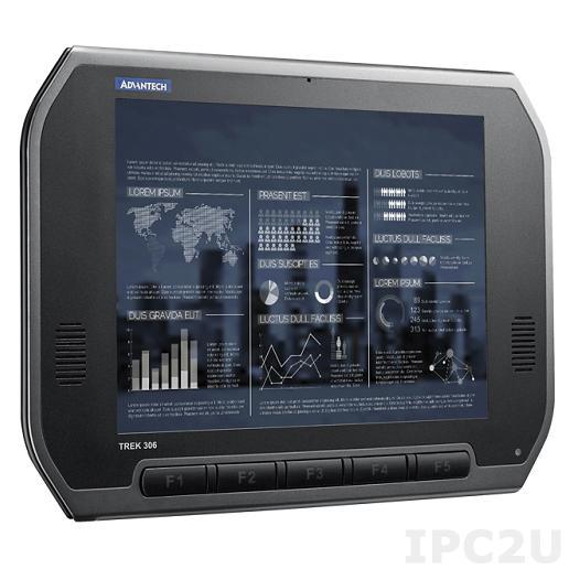 """TREK-306P-H2A0E Монитор для транспорта с 10.4"""" TFT LCD c IP55 по всему корпусу (с крышкой), 1024x768, резистивный сенсорный экран, Smart Display port, 1xUSB 2.0, питание 12В DC"""