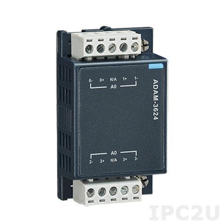 ADAM-3624-AE Модуль вывода, 4 канала аналогового вывода