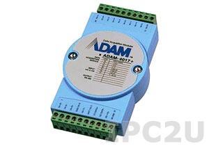 ADAM-4017+-CE Модуль ввода, 8 каналов аналогово ввода, Modbus RTU/ASCII