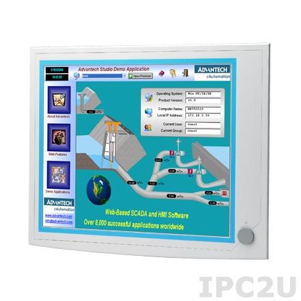"""IPPC-6192A-R2AE Панельная рабочая станция с 19"""" TFT LCD LED, резистивный сенсорный экран, поддержка Intel Core i7/i5/i3 Haswell, 4x240-pin DDR3-1066/1333, 2x2.5"""" SATA HDD, 2xLAN, 3xCOM, 5xUSB, VGA, 2xPCI, питание 100-240В AC 350Вт"""