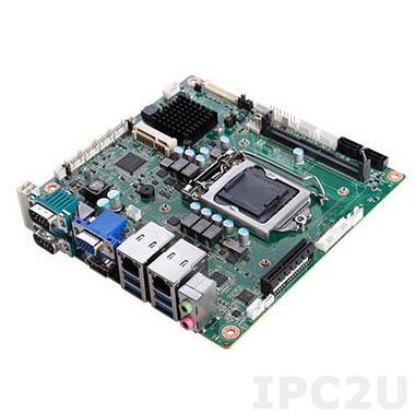 PPC-MB-8260AE Процессорная плата Mini-ITX, Intel Сore i3/i5/i7/Celeron/Pentium, LGA 1151, VGA/DP/LVDS, Intel H110, 1x260-pin DDR4-2133МГц SO-DIMM, 5xCOM, 6xUSB, 2xSATA, 2xGbE LAN, 1xPCIe x4, 1xMini PCIe (mSATA)