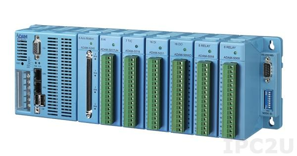 ADAM-5560CDS-E0TCE PC-совместимый промышленный контроллер, Intel Atom Z510P, 1Гб DDR2 SDRAM, 1Гб CompactFlash, VGA, 2xUSB, 1xRS-485, 3xRS-232/485, 2xEthernet, 7 слотов расширения, Windows CE 5.0