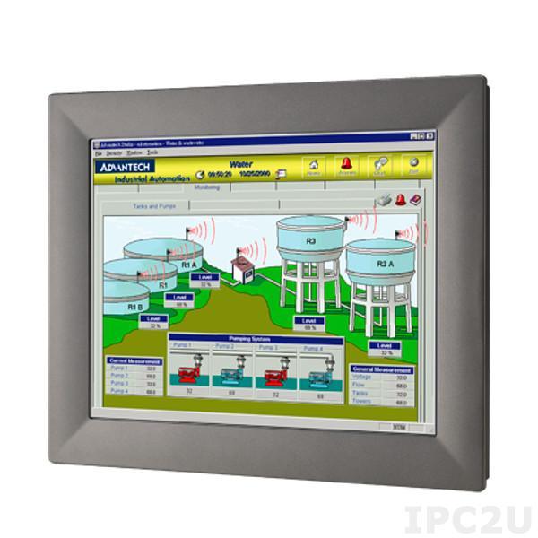 """TPC-1582H-433BE Безвентиляторная панельная рабочая станция с 15"""" XGA TFT LED LCD, резистивный сенсорный экран, Intel Core i3-4010U 1.7ГГц, 4Гб DDR3L-1600, 1x2.5"""" SATA SSD, 1xCFast, 2xCOM, 2xUSB 3.0, HDMI, 2xLAN, PCIe, 1xMini-PCIe, Аудио, питание 24В DC"""