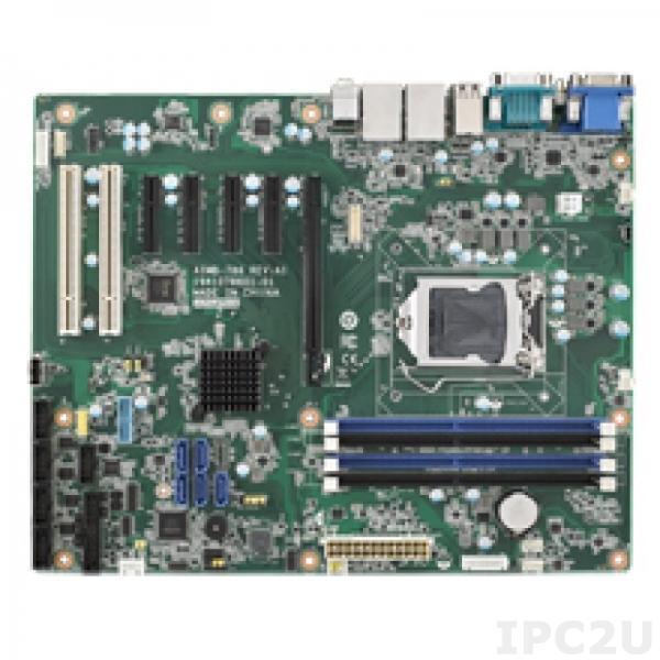 AIMB-786G2-01A1 Процессорная плата ATX, поддержка Intel Core i7/i5/i3/Pentium/Celeron 8th Gen, LGA1151, Q370, DDR4, VGA, DVI, DP, 5xSATA III RAID 0/1/5/10, 6xUSB 3.1, 7xUSB 2.0 , 6xCOM, 2xGbE LAN, PS/2