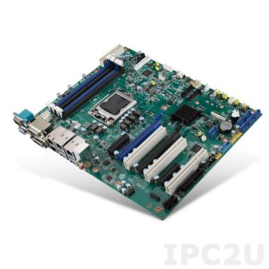 ASMB-785G2-00A1E Серверная плата ATX, поддержка Intel Xeon E3-1200 v5/6th Gen Core i3/i5/i7, DDR4, 2xDVI, VGA, 6xCOM, 3xUSB 2.0, 6xUSB 3.0, 2xGbE LAN, 6xSATA III, Аудио, 2xPCIe x16 (1xPCE x8), 2xPCIe x4, 3xPCI