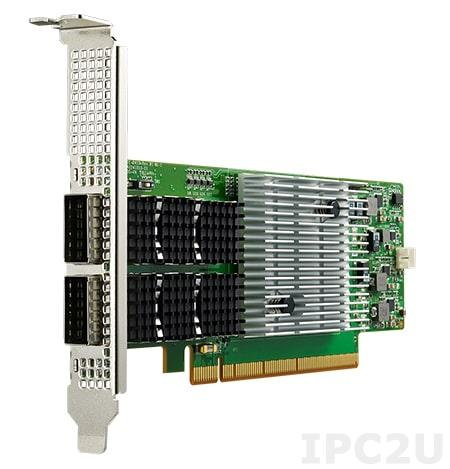 PCIE-2420NP-00B1E Сетевой адаптер 100GbE Ethernet, 2 порта QSFP28, контроллер Mellanox ConnectX-5, PCI Express x16 gen. 3, низкопрофильный