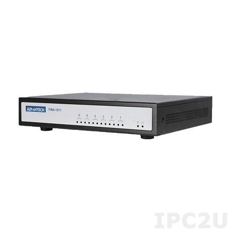 "FWA-1011L-2C01E Компактный сервер сетевой безопасности, Intel Atom x5-E3930 1.3 ГГц, 1x204-pin DIMM DDR3 до 8 Гб, HDMI, 1x2.5"" SSD, 4xGbE LAN, 1xM.2 2230, 1xM.2 3042, 1xM.2 SSD, 1xM.2 WiFi, 1xSIM slot, 2xUSB, питание 100-240 В DC, 40 Вт"