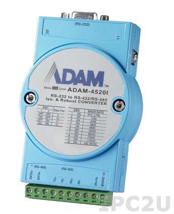 ADAM-4520I-AE Конвертер RS-232 в RS-422/485, изоляция на стороне RS-232, -40...+85C