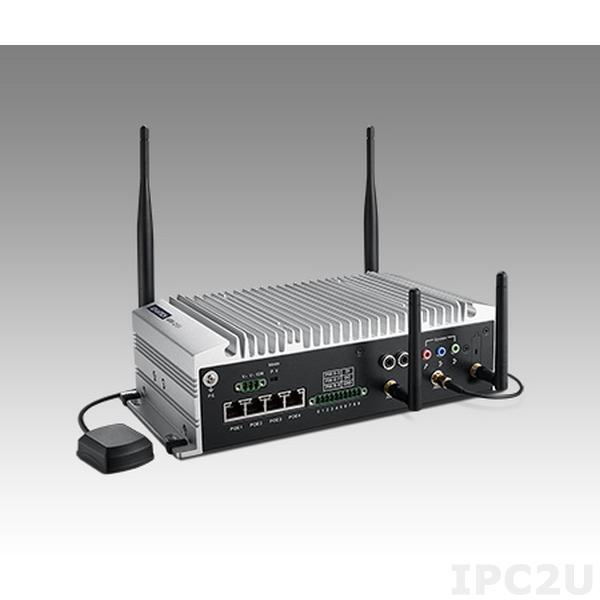 """ARK-2151V-S9A1E Встраиваемый компьютер c Intel 4th Gen Core i5-4300U 1.9ГГц, до 8ГБ DDR3L, GT2-4400, VGA, HDMI, 2GBexLAN, 4xLAN PoE, 4xUSB, 6xDI, 2xDO, GPS, G-sensor, Audio, 4xmPCIe,отсек для 2.5"""" SATA HDD, 9-36 DC"""