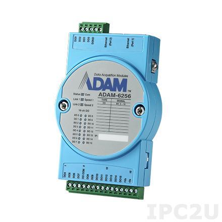 ADAM-6256-B Модуль вывода, 16 каналов дискретного вывода, 2xEthernet, Modbus TCP