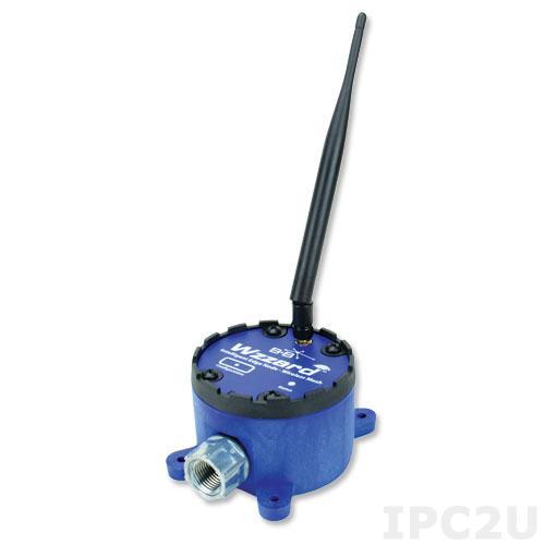 WSD2CA3 Беспроводной модуль ввода-вывода, 3 канала аналогового ввода, 1 канал дискретного вывода, SmartMesh 802.15.4e, Bluetooth, внешняя антенна