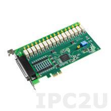 PCIE-1762H-AE Плата ввода-вывода PCI Express, 16DI с изоляцией, 16 реле