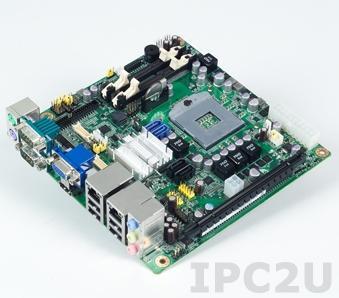 AIMB-272VG-00A1E Процессорная плата Mini-ITX, сокет uFC-PGA988, чипсет HM65 для Intel Core i7/i5/i3/Celeron, до 8Гб DDR3 SO-DIMM, VGA, HDMI, 1xGb LAN, 4xCOM, 8xUSB, 4xSATA, слоты расширения 1xPCIe x16, 1xMini-PCIe