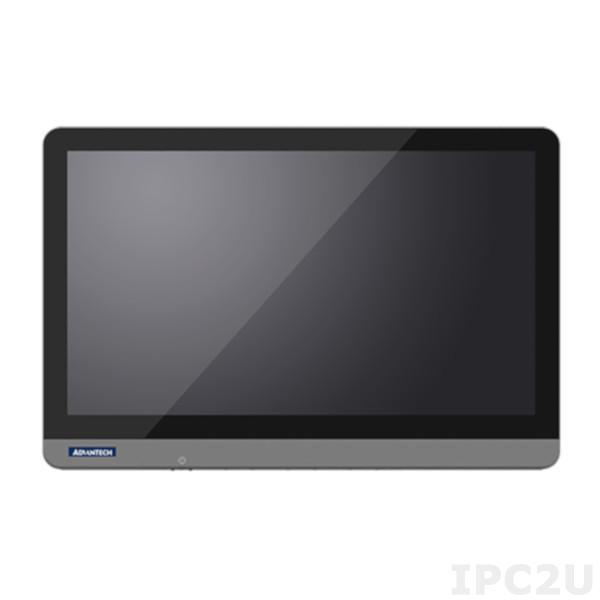 "POC-W243L-D00D-ACE Безвентиляторная медицинская рабочая станция с 23.8"" TFT LCD, пр.-емкостный сенс.экран, Intel Kaby Lake Core i3, 4Гб DDR4, Display Port, HDMI, 2xCOM(опция), 4xUSB, 2xLAN, 1xM.2 slot, 1xMini PCIe, Audio,адаптер питания 90-240V AC/DC"