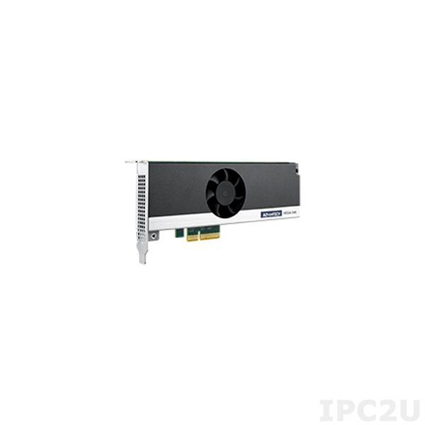 VEGA-340-04A1 Процессорная плата для увеличения производительности систем машинного зрения с 4xIntel Movidius Myriad X MA2485 VPU, PCIex4, совместимость с Windows 10x64, Ubuntu 18.04, OpenVINO R2 2019, размеры 171.07x68.9mm, мощность 16.8Вт, питание 6-pin, -20~60C